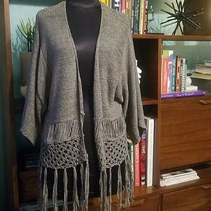 Open-front sweater